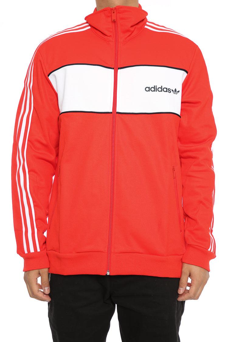 Adidas Originals BLOCK TRACK JACKET Red