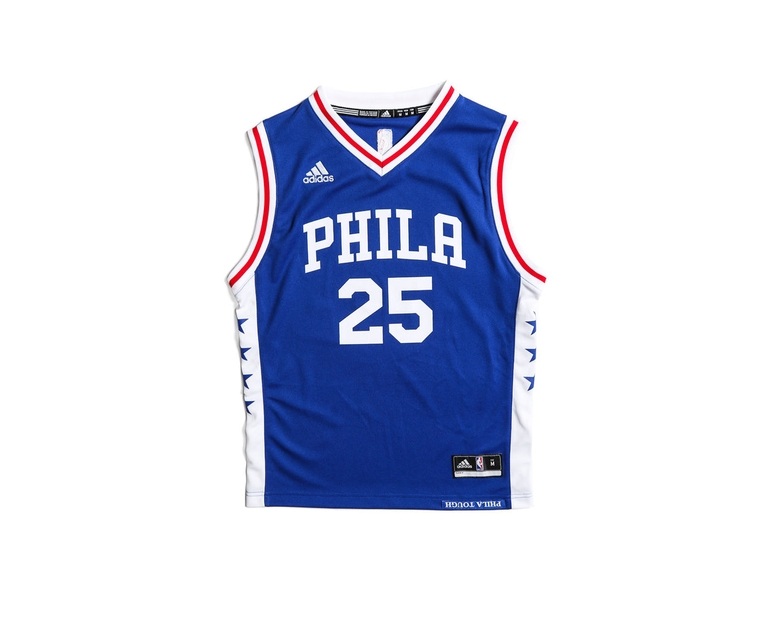 Adidas Performance Philadelphia 76ers Ben Simmons Youth Jersey Blue