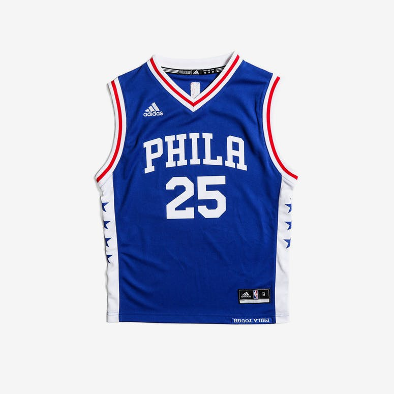 a02940eaa Adidas Performance Philadelphia 76ers Ben Simmons Youth Jersey Blue – Culture  Kings