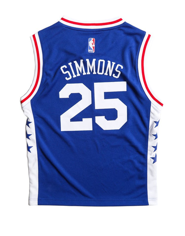 fbd0c2ef9e0 Adidas Performance Philadelphia 76ers Ben Simmons Youth Jersey Blue –  Culture Kings