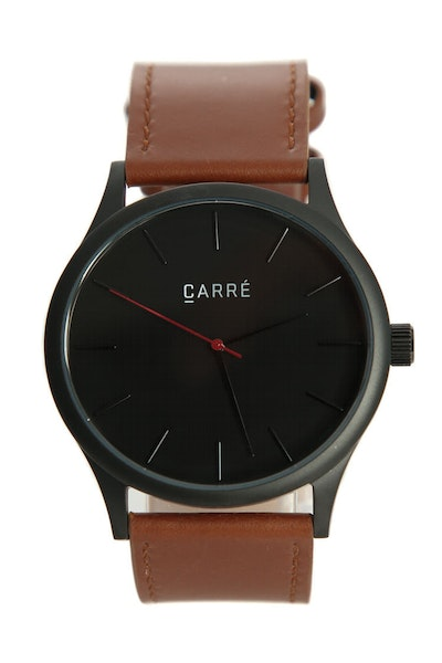 Carré King Louis Leather 45mm Black/Tan
