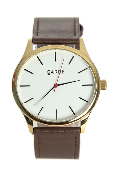 Carré King Louis Leather 45mm Gold/Brown