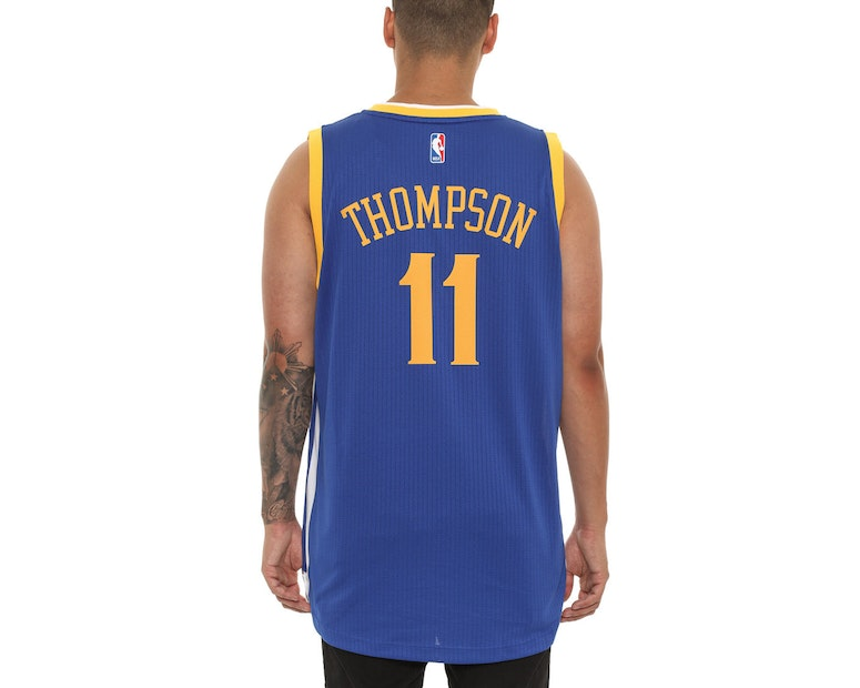 Adidas Performance Warriors 11 Thompson Swingman Jersey Royal Blue
