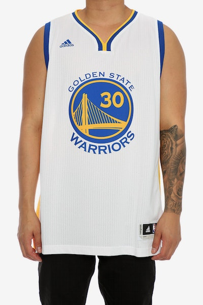 ADIDAS PERFORMANCE GS WARRIORS STEPHEN CURRY  30  SWINGMAN JERSEY WHITE 05fdf6d34