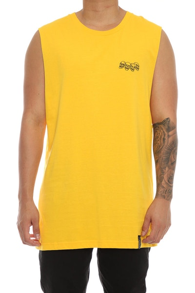 Rats Get Fat X Jesse Taylor Snakepit Muscle Tee Yellow