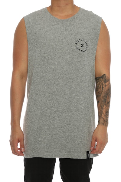 Rats Get Fat X Jesse Taylor Shell Muscle Tee Grey