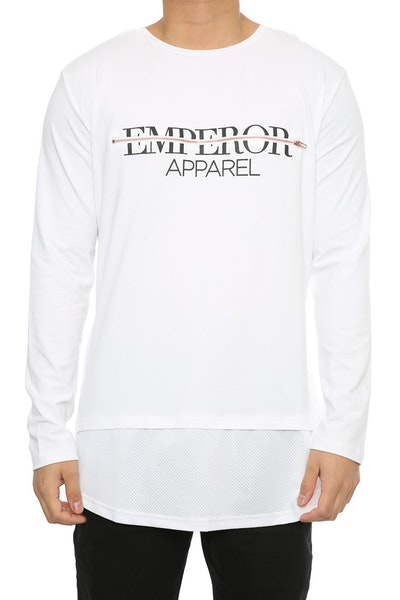 Emperor Apparel Pari L/S White