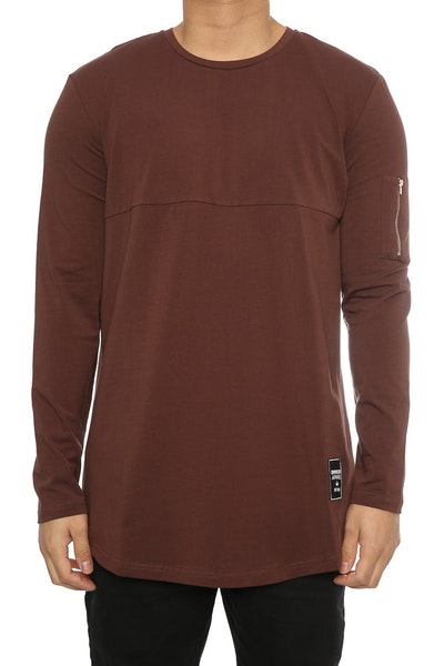 Emperor Apparel Windsor LS Tee Brown