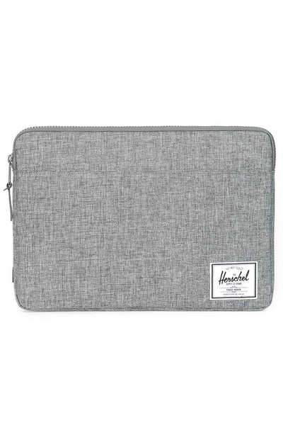 "Herschel Supply Co Anchor Sleeve Crosshatch 15"" Charcoal"