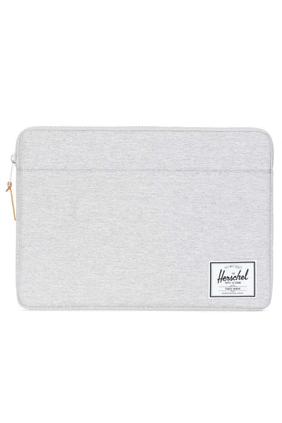 "Herschel Supply Co Anchor Sleeve Crosshatch 15"" Light Grey"