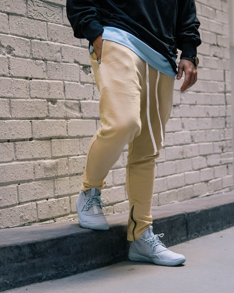 Saint Morta Dust Washed Track Pants Beige