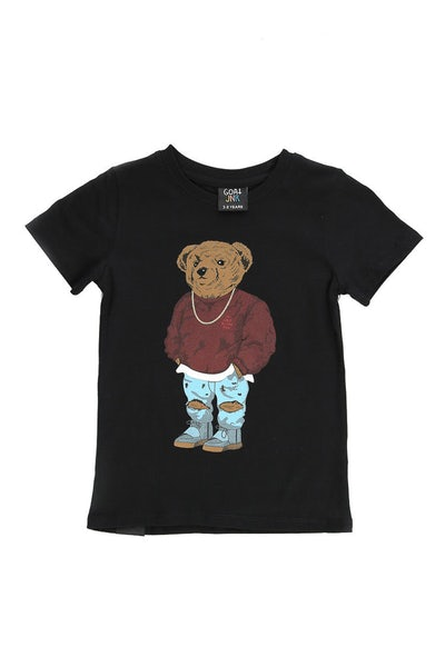 Goat Crew Junior Pablo Bear Tee Black