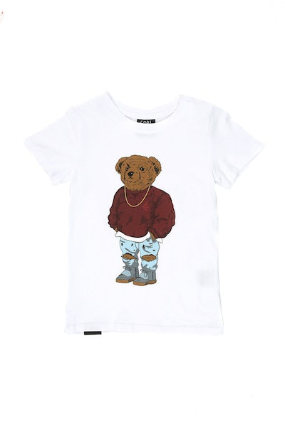 Goat Crew Junior Pablo Bear Tee White
