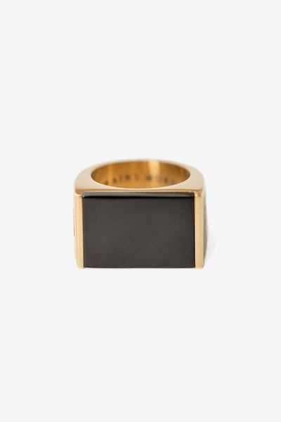 SAINT MORTA ONYX RING GOLD/BLACK