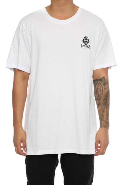 Last Kings Skull Tutt Pocket Logo Tee White