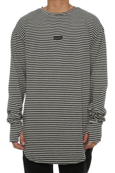 Saint Morta Bohemian Long Sleeve YDS Tee Grey/Charcoal