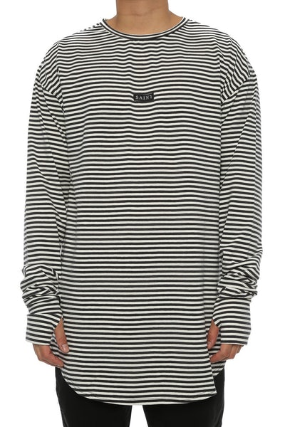 Saint Morta Bohemian Long Sleeve YDS Tee White/Charcoal