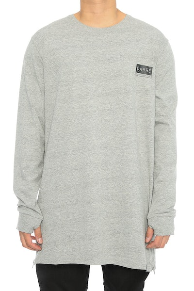 Carré Core Capone 3 Long Sleeve Tee Grey Heather