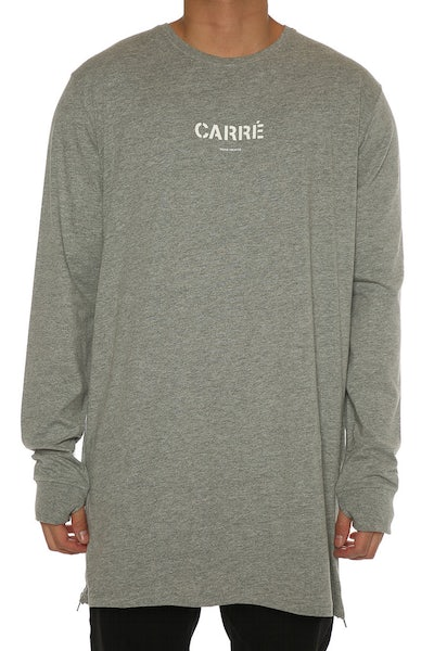 Carré Section 2 Capone 3 L/S Tee Grey Heather