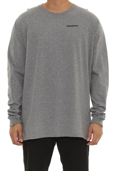 Patagonia P6 logo Long Sleeve Graphite