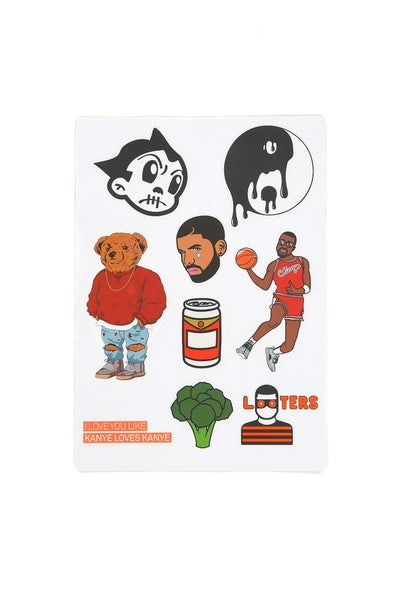 Goat Crew Sticker Set Multi-coloured