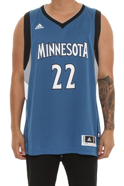 Adidas Performance Minnesota Timberwolves 22 Andrew Wiggins Blue