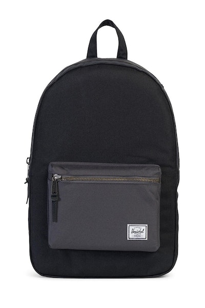 Herschel Supply Co Settlement Rubber Backpack Black/Charcoal