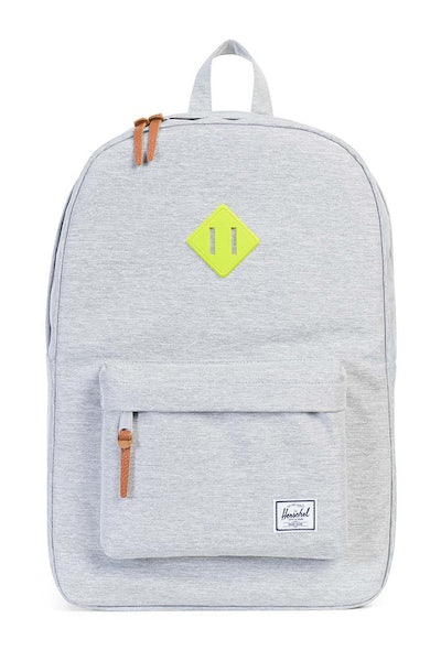 Herschel Supply Co Heritage Crosshatch Rubber Light Grey/Acid