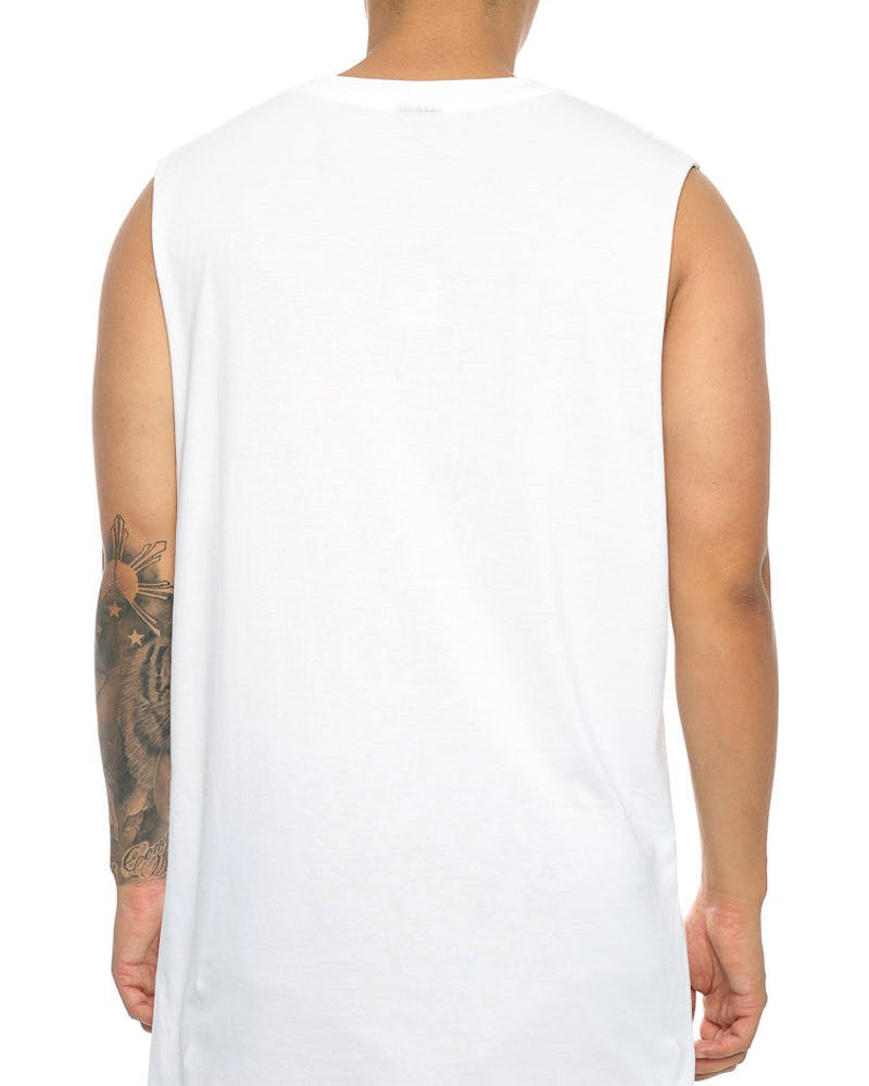 Rats Get Fat Coffin Pocket Shipmate Muscle Tee White