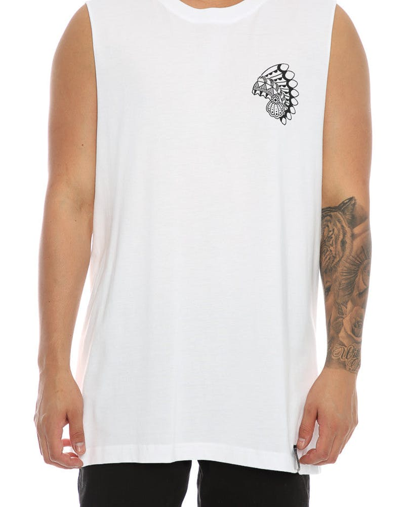 Rats Get Fat Too Many Chiefs Muscle Tee White