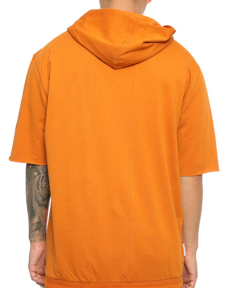 Saint Morta Gothic 3/4 Sleeve Zip Hoodie Mud Orange