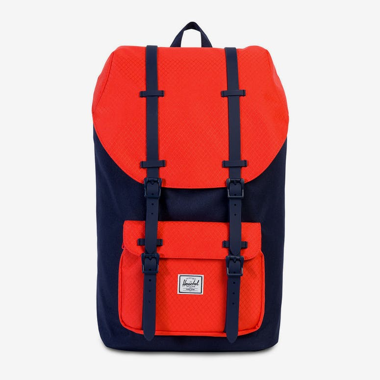 6959ee5d37 Herschel Supply Co Little America Rubber Navy Coral – Culture Kings
