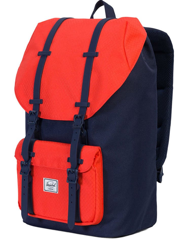 0096686c3ec Herschel Supply Co Little America Rubber Navy Coral – Culture Kings