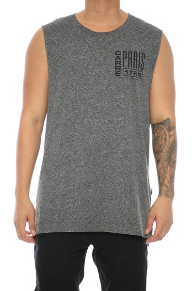 Carré Agrafe Statique Muscle Tee Charcoal