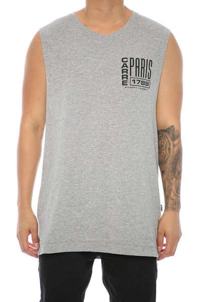 Carré Agrafe Statique Muscle Tee Grey