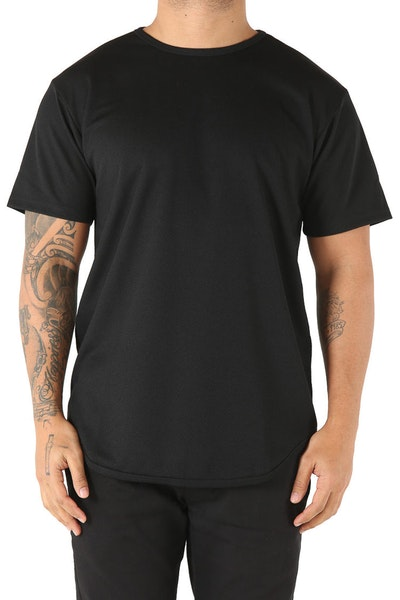EPTM Dimple Mesh OG Long Tee Black