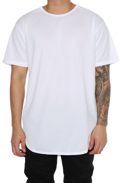 EPTM Dimple Mesh OG Long Tee White