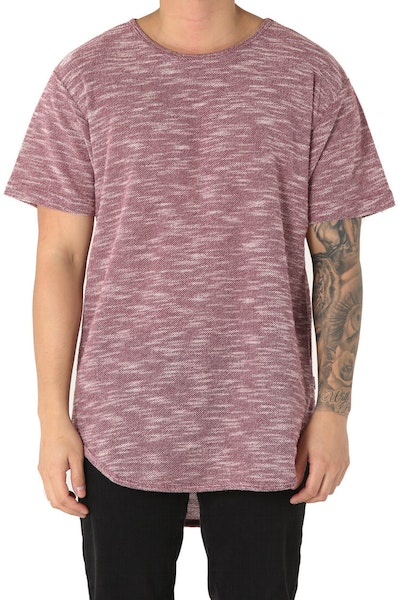 EPTM Loop Terry OG Long Tee Burgundy