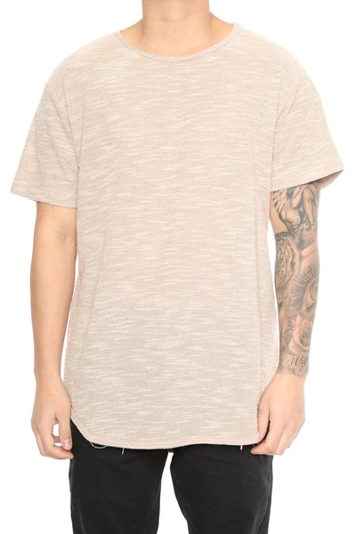 EPTM Loop Terry OG Long Tee Khaki