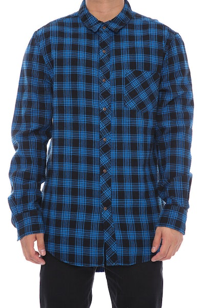 Nena And Pasadena Airwolf Tail Check Shirt Blue/Black
