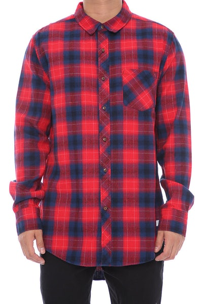 Nena And Pasadena Airwolf Tail Check Shirt Red/Black