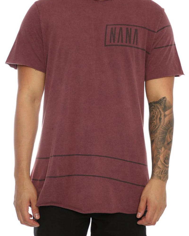 Nana Judy the Joker Tee Acid Burgundy