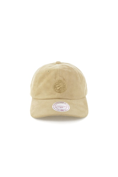 Mitchell & Ness Toronto Raptors Suede Slouch Strapback Tan