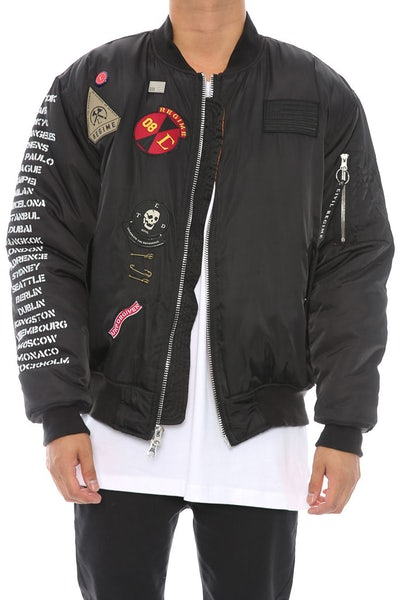 Rebel Tour MA-1 Bomber Jacket Black