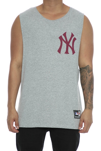 Majestic Athletic Yankees Draike Muscle Tee Grey/Maroon