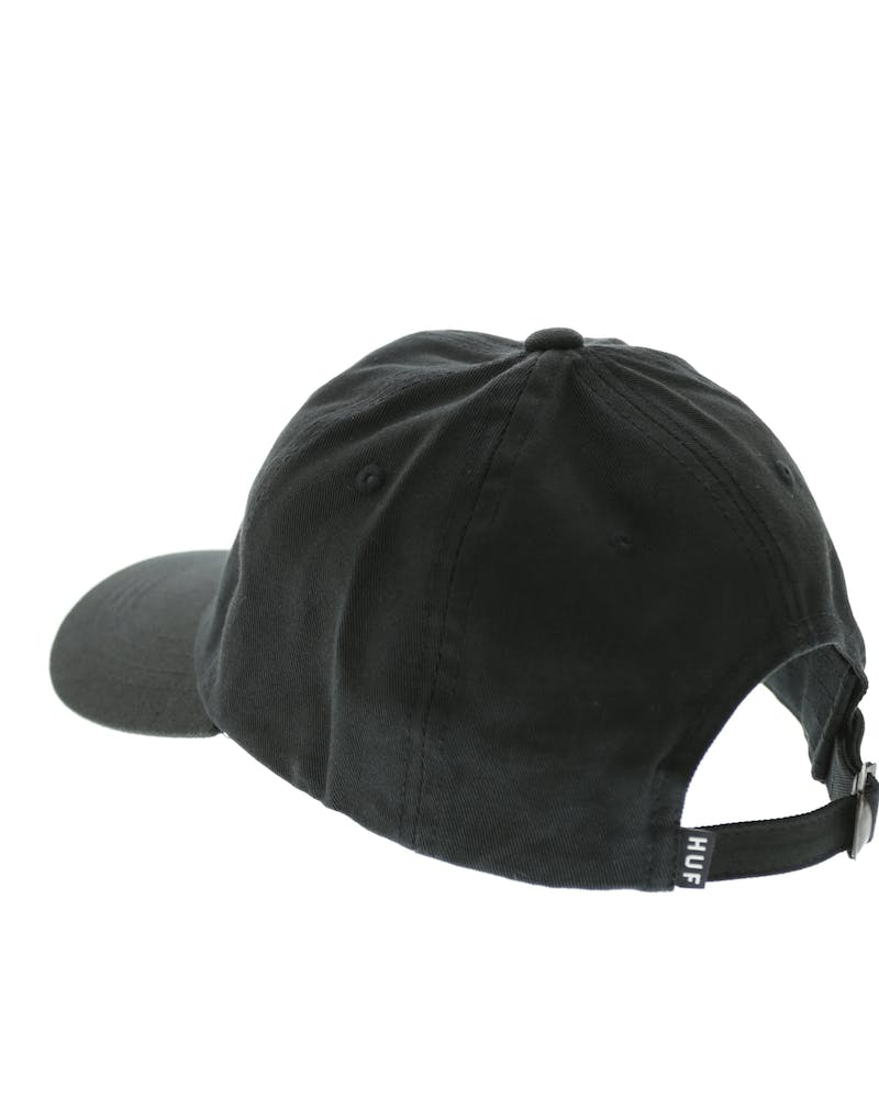 HUF Original Logo Curved Brim Hat Black