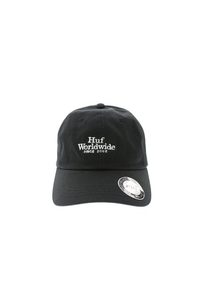 HUF Worldwide UV Curved Strapback Black