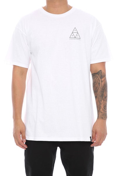 Huf Triple Triangle Tee White