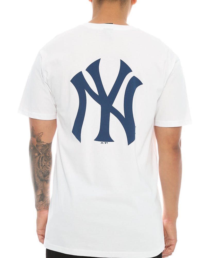 Majestic Athletic Yankees Remic Tee White/Navy