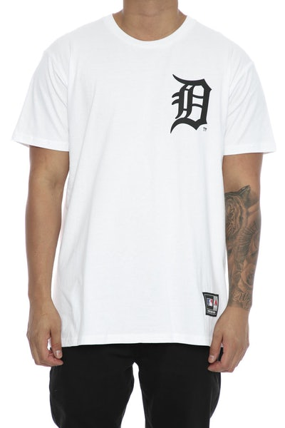 Majestic Athletic Tigers Remic Tee White